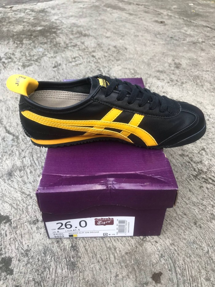 on sale 11b1c 02caa Onitsuka Tiger Mexico 66 Black - Gold Fusion - Black Yellow