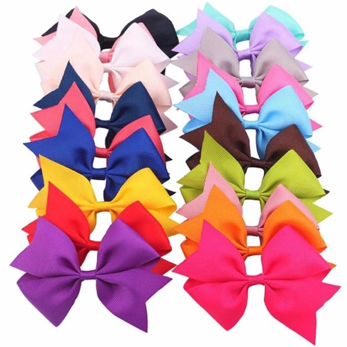 """20Pcs 2/"""" Baby Girls Grosgrain Ribbon Boutique Flower Hair Clip For Girls Toddler"""