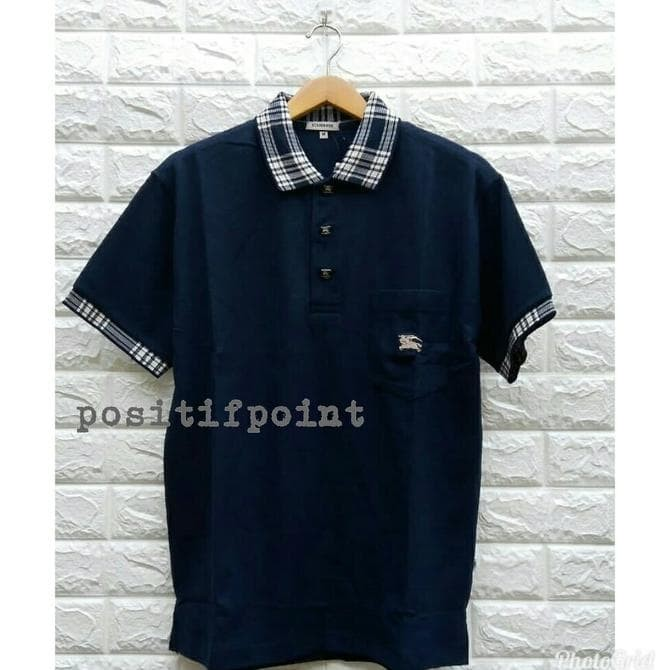 26e41ac2fb1 Jual Burberry Kaos Polo Premium Promo!! + Free Cover Bag ...