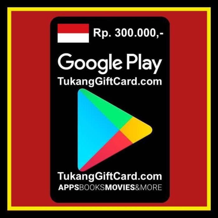 Jual BEST SELLER Google Play Store Gift Card 300ribu Indonesia SPECIAL -  erinshop73 | Tokopedia