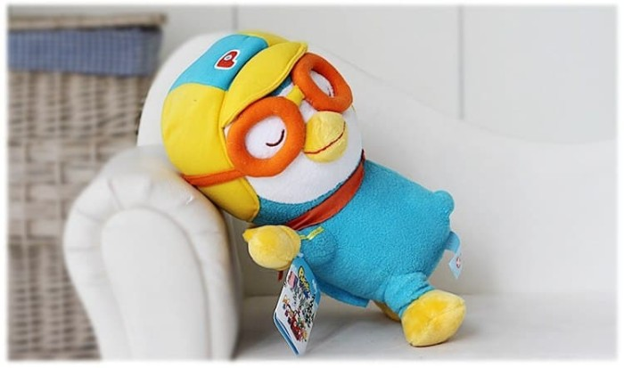 Foto Produk 32CM Pororo Little Penguin Plush Toys Doll Pororo dari mini pororo