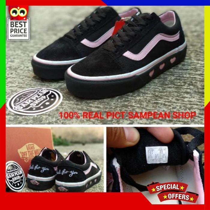 07be9ec6a24 Jual Sepatu Vans Oldskool Old Skool LAZY OAF X vans Black PLATFORM ...
