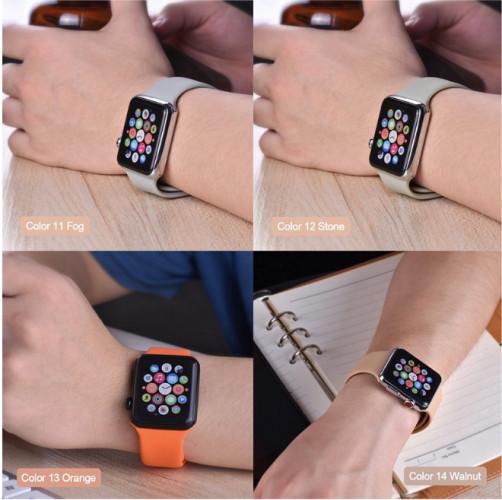 Foto Produk Colorful Polos Sports Strap Untuk Apple Watch 38mm 40mm 42mm 44mm 1234 dari JM Cell Surabaya