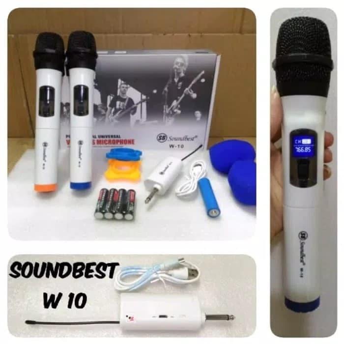 Foto Produk Mic wireless soundbest W10 Original mic soundbest w 10 dari Evolution Eletronik