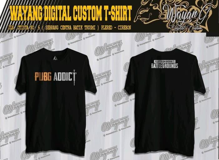 Jual T5721 Kaos Baju Obral Combed 30s Distro Pubg Addict Depan Belakang Jakarta Utara Importir Jersey Tokopedia