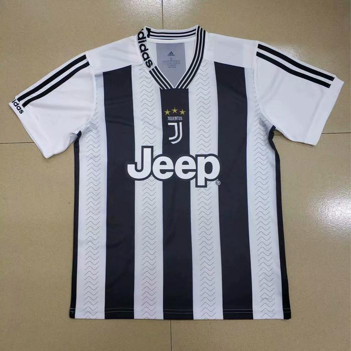 f393f76ff8b Jual Jersey Kaos Baju Bola Juventus Home Fantasy Hitam Putih 2019 ...