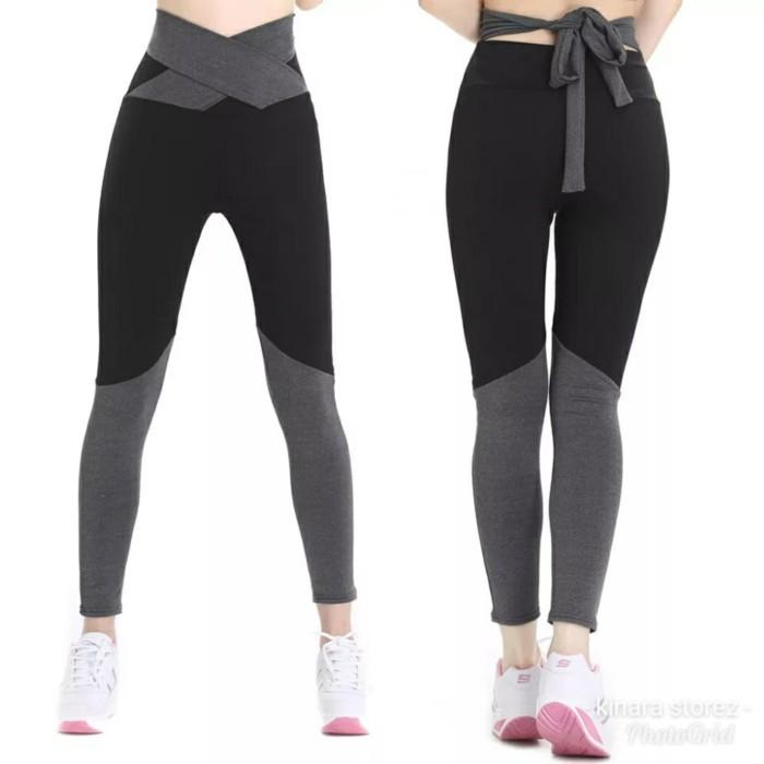 Jual Celana Sport Legging Panjang Olahraga Gym Fitness Senam Wanita Hitam L Jakarta Barat Kinara Storez Tokopedia