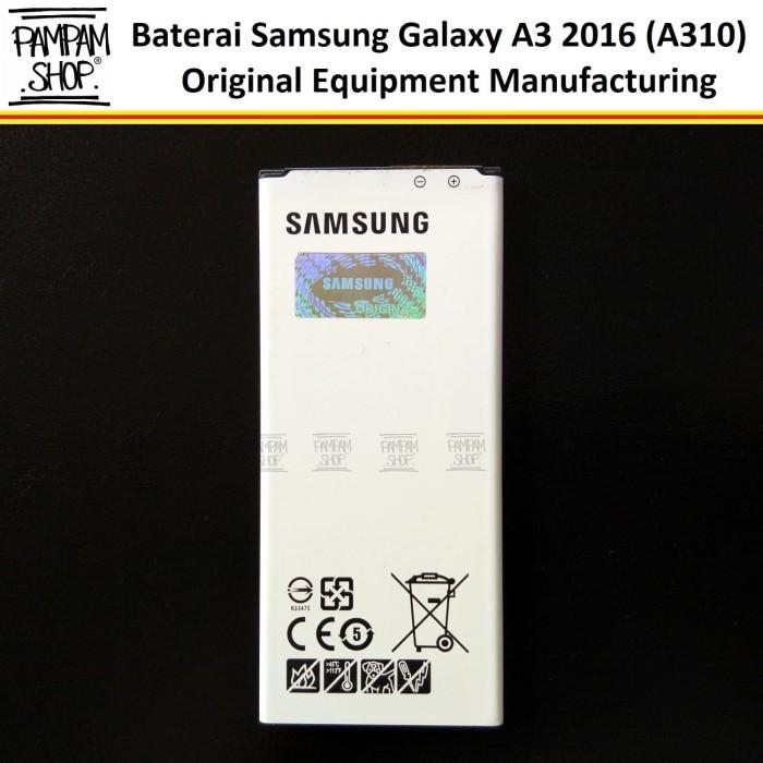 harga Baterai handphone samsung galaxy a3 2016 a310 original   a 3 a 310