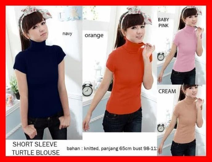 Jual Baju Atasan Wanita Kaos Panjang Blouse Korea Putih ... d5c9945bd5