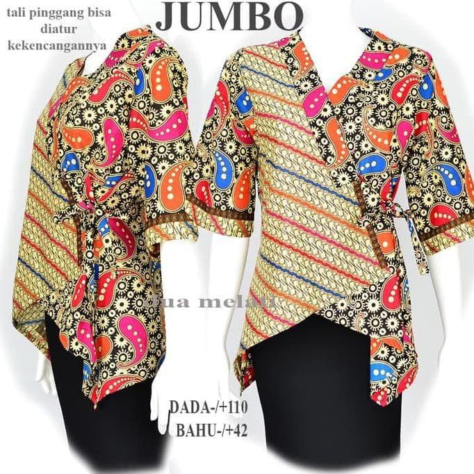 Jual Atasan Batik Tunik Batik Baju Batik Blouse Batik Wanita Jumbo A590 Odiolstore Tokopedia