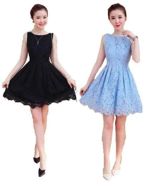 Jual Dress Wanita Korea Import Pesta Brukat Tile Terbaru 996