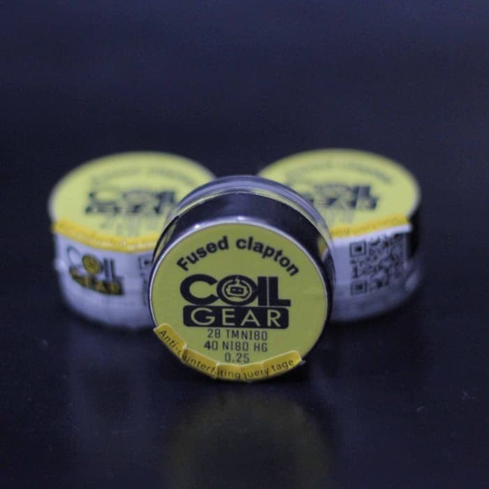 Foto Produk Coil Gear Fused Clapton TMNi80 4biji 2Pasang Coil Jadi kawat Vaporizer dari oku mewangi