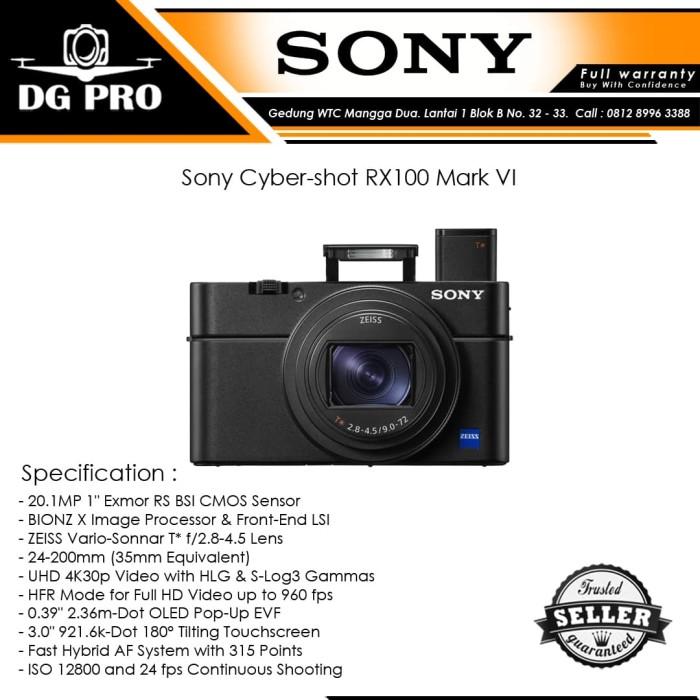 Sony cyber-shot rx100 mark vi - kamera sony rx100 mark 6
