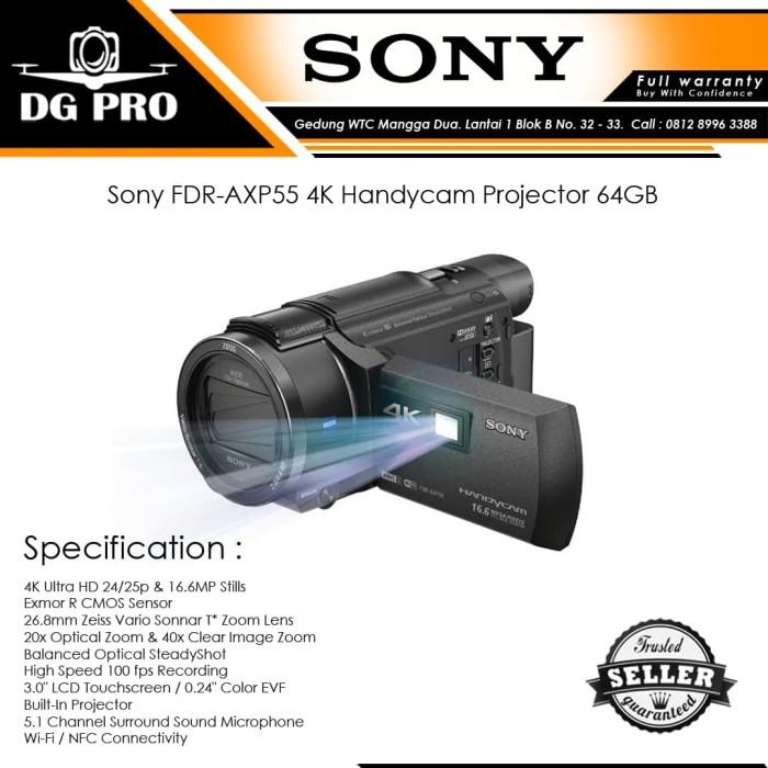harga Sony fdr-axp55 4k handycam projector 64gb - camcorder axp 55 Tokopedia.com
