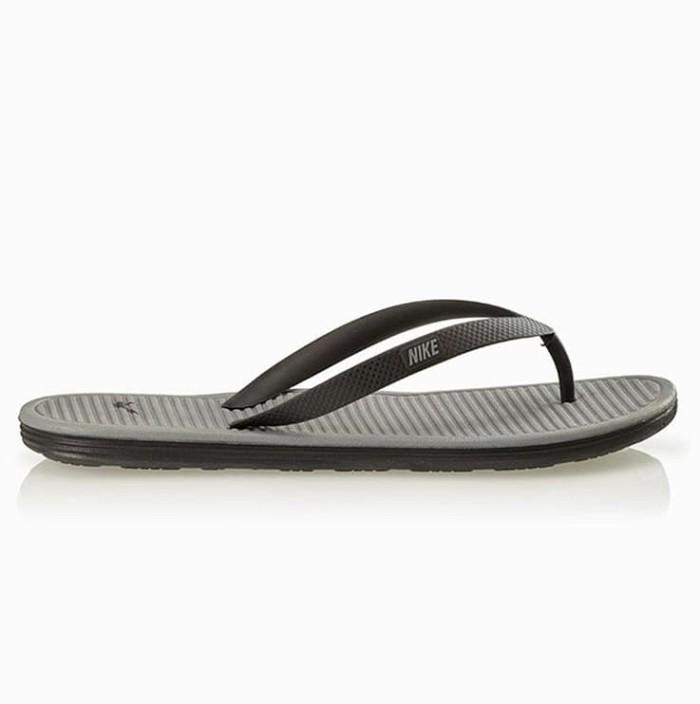 654c7a8700c Jual Sandal NIKE SOLARSOFT THONG 2 Grey Black 488160-090 ORIGINAL ...