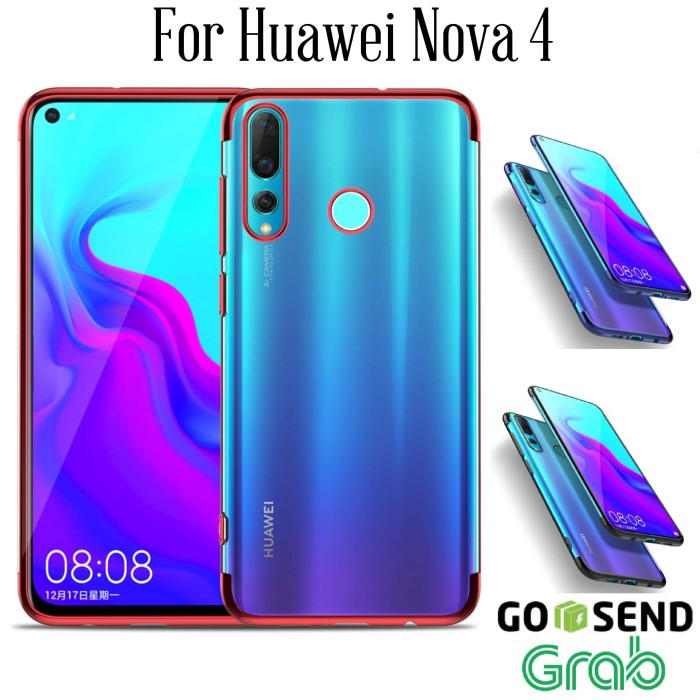 Foto Produk Case Huawei Nova 4 Soft case casing cover ultra thin slim TPU PLATING - Hitam dari Jakey Online Shop
