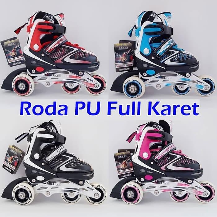 Sepatu Roda Anak BAJAJ Inline Skate Ban Roda Nyala Full Karet PU 1012 d113539f69