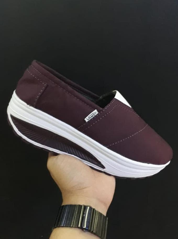 5cad9f3baf1 Jual Terlaris Vans Wedges Size 36 - 40 Sepatu Wanita Santai Tinggi ...