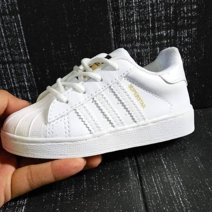 Sepatu Anak Adidas Superstar Kids Tali Putih - Sepatu Bayi Adidas Baby 0cf453af90