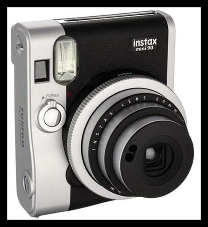 Jual Kamera Fujifilm Instax Polaroid Mini 90 Neo Classic Black New