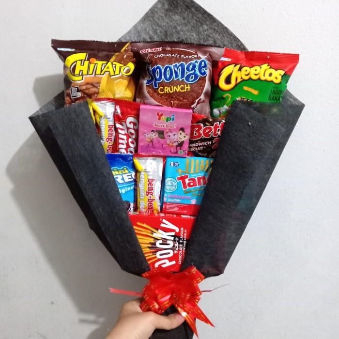 Jual Snack Bouquet Bucket Buket Bunga Snack Makanan Murah Kado Wisuda Jakarta Barat Classy Paperflower Tokopedia