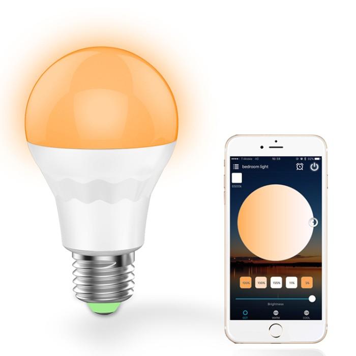 Wifi Light Bulb >> Jual E27 7 5w Warm White Cool White Smart Wifi Led Light Bulb Work With Dki Jakarta Crazy Shopping Product Tokopedia