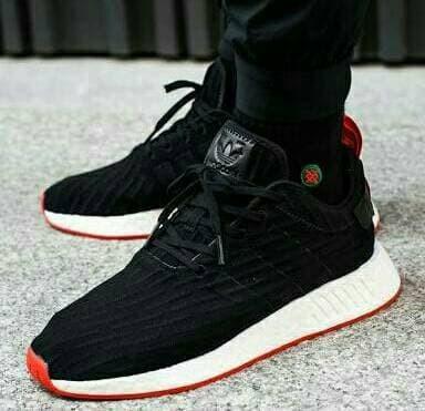 new product 9958f 200c5 Jual Adidas NMD R2 Black Red Sepatu Jalan Olahraga Pria PREMIUM - erlya  store   Tokopedia