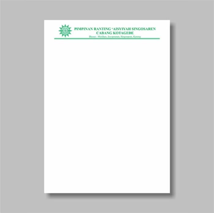 Jual Kop Surat Cetak 1 Warna Dki Jakarta Mitrasima Stempel Tokopedia