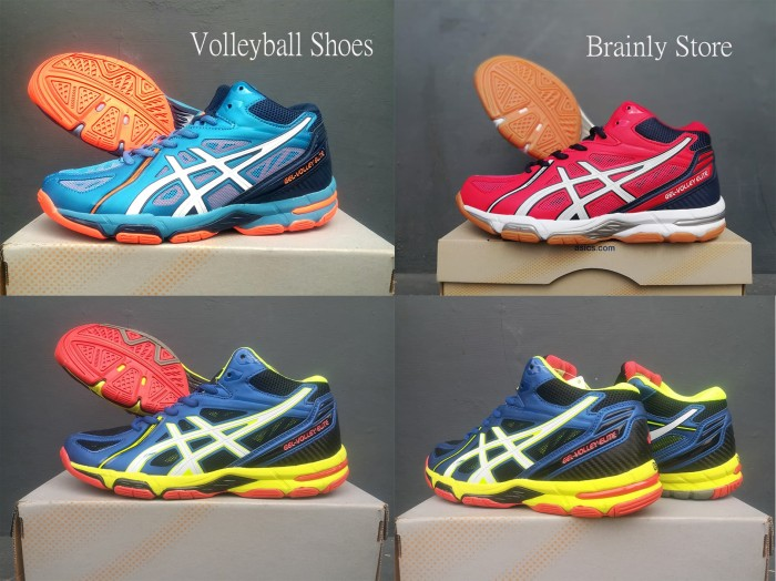 Jual ASICS Gel Volley Elite 3 MT Blue B501N-4301 - brainlystore ... 64ab304ef7