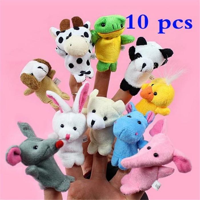 Foto Produk Set boneka jari hewan binatang mainan / Animal Finger Puppet dari Grandia Shop