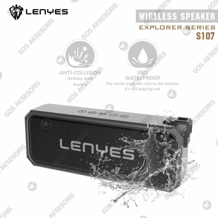 Foto Produk Speaker Bluetooth Portable Waterproof POWERBANK TWS LENYES S107 dari GOS Aksesoris HP