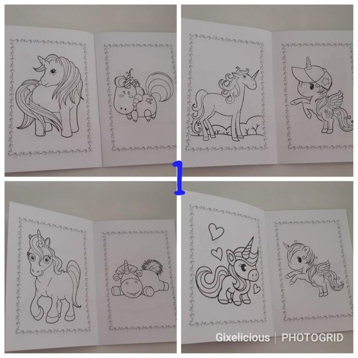 Jual Buku Mewarnai Custom Unicorn Dki Jakarta Gading Grosir