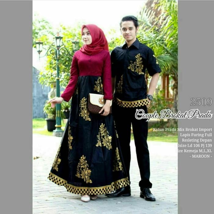 Jual Couple Sarimbit Batik Kembang Pradaa Model Gamis Dress Kebaya Brokat Kota Pekalongan Aneka Batik Modern Tokopedia