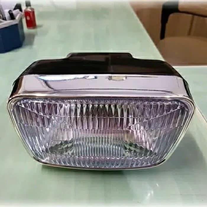 Foto Produk REFLEKTOR LAMPU DEPAN ONLY YAMAHA RX KING NEW OVAL HITAM dari epoel elektronik
