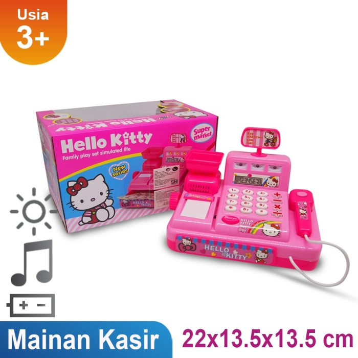 Mainan anak mesin kasir hello kitty cash register - 5524