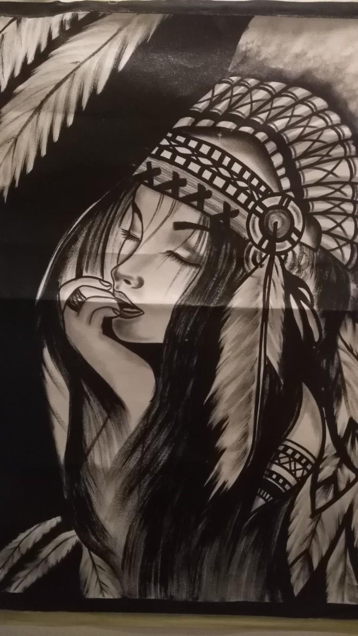 Jual Lukisan Gadis Dayak Kota Denpasar Balpetcare