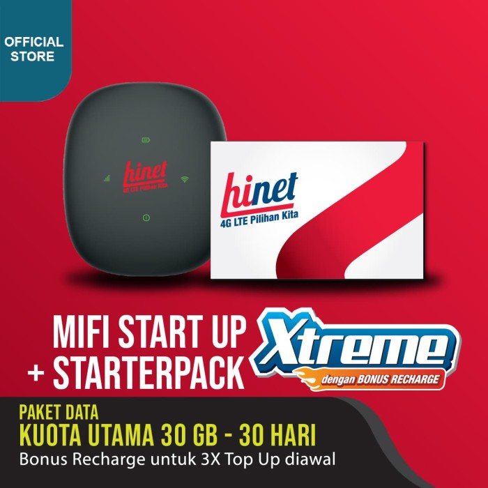 Foto Produk MIFI START UP XTREME dari Hinet 4G LTE Official