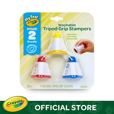 harga My first crayola stage 2 washable tripod grip stampers 3pcs Tokopedia.com