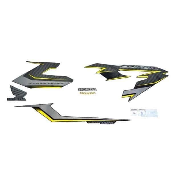 Foto Produk Sticker Body Kanan (Stripe Set R) Black Yellow CB150R StreetFire K15 dari Honda Cengkareng
