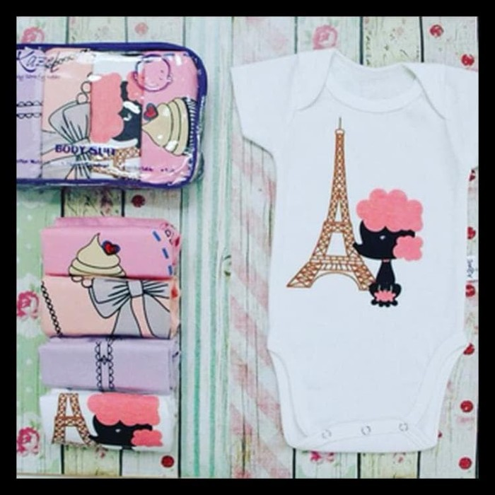 Kazel Bodysuit / Jumper 4in1 Jumper Bayi Modern Girl - paris XXL
