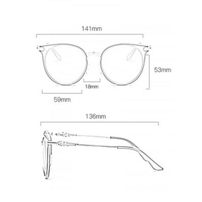 4e2b49aedbfe20 Jual Cat Eye Metal Splicing Leg Round Sunglasses - DKI Jakarta ...