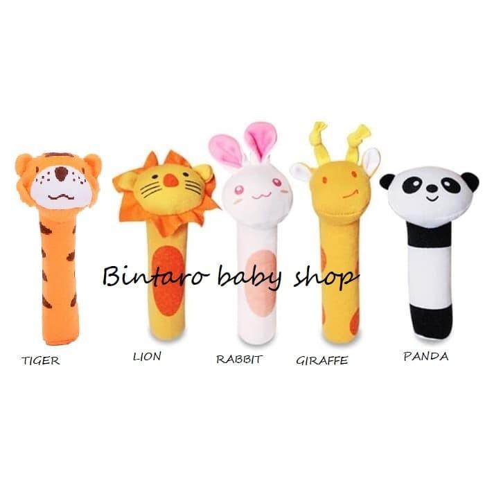 Foto Produk MAINAN BAYI BONEKA TANGAN / RATTLE STICK / BONEKA BUNYI - MONKEY dari Bintaro Baby Shop