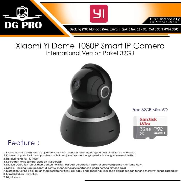 harga Xiaomi yi dome 1080 p smart ip camera internasional version paket 32gb Tokopedia.com