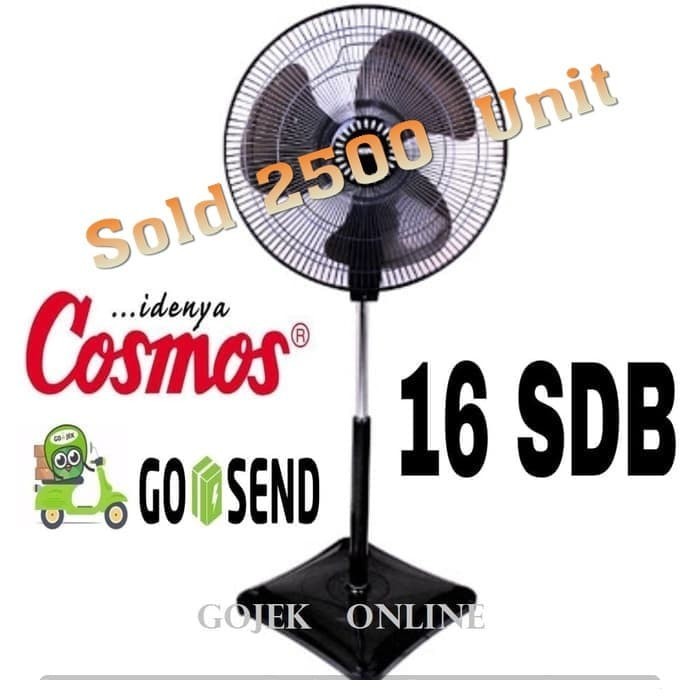 Foto Produk Stand Fan Kipas Angin Berdiri COSMOS 16 SDB - EKONOMIS dari GOJEK  ONLINE