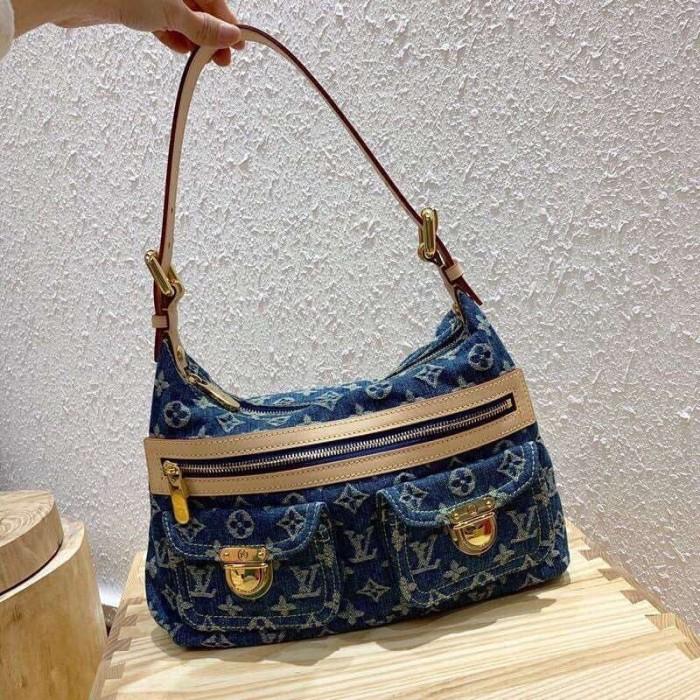 Louis Vuitton Denim Bag >> Jual Jual Tas Vintage Lv Louis Vuitton Denim Bag Kw Mirror Vip Dki Jakarta Brandedreplicas Tokopedia