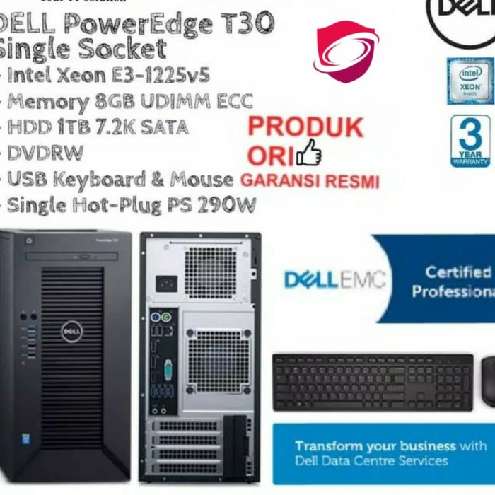 Jual PC Server - DELL PowerEdge T30 - Micro Tower - Kota Bandung -  galaxymoviestore | Tokopedia