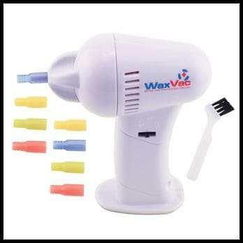 ELECTRIC EAR WAX VACUUM VAC WAX REMOVAL PEMBERSIH TELINGA - WHITE