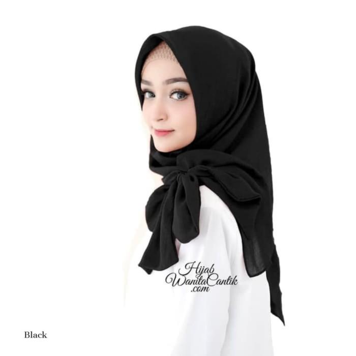 Pashmina kerudung ori hijab wanita cantik instan fraya voal polos - azura blue