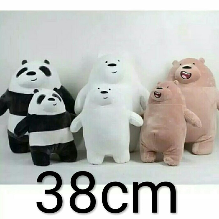 Foto Produk boneka we bare bears 40cm spt miniso panda bear ice bear grizzy import - Beige dari cutePeppa