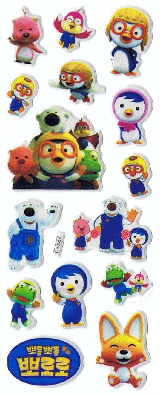 Jual SK380 Mainan Stiker Tempel Reward Anak Kids Timbul Spon Pororo Penguin Kota Surabaya Pusat Barang Unik China